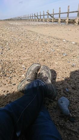 beach feet.